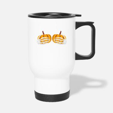 Present Halloween Costume Monster Creepy Pumpkin Scare - Travel Mug