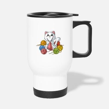 Hobbyists Knitting Crafts Hobbyist Cat Kitty - Travel Mug