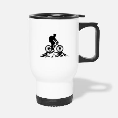 Mountain Mountain Bike Biker Mountain Bike Cyclist - Travel Mug