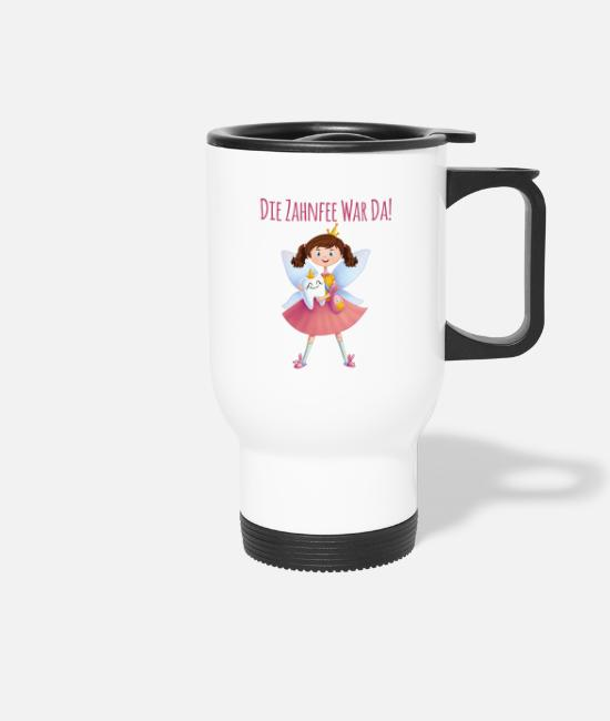 Fairy Tail Mugs & Drinkware - The tooth fairy was there fairy elven milk tooth gift - Travel Mug white