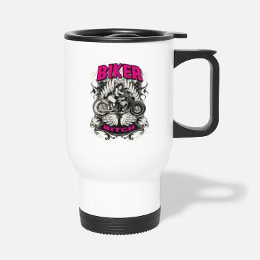 Chopper Biker Bitch - Travel Mug