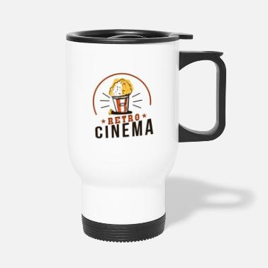 Cinema Retro cinema with popcorn cinema as it used to be - Travel Mug