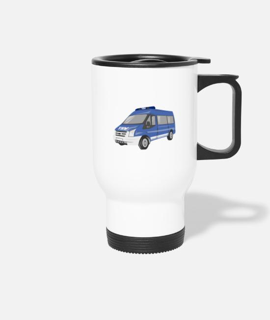 Helper Mugs & Drinkware - MTW Transporter THW Technisches Hilfswerk - Travel Mug white