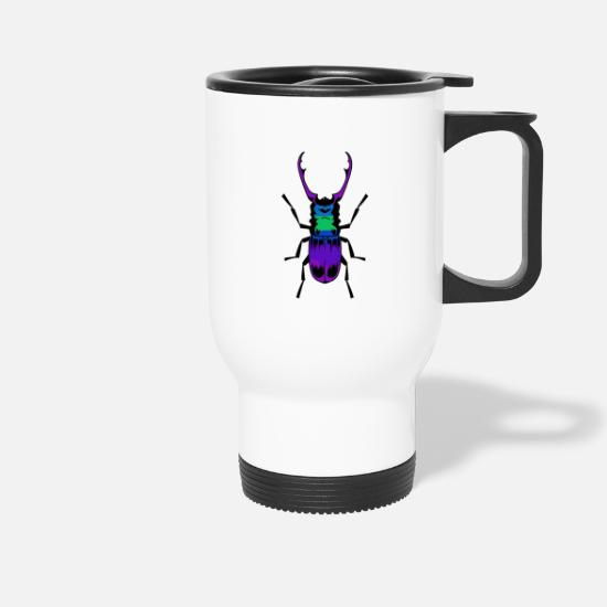 Insect Mugs & Drinkware - Stag beetle insect insects - Travel Mug white