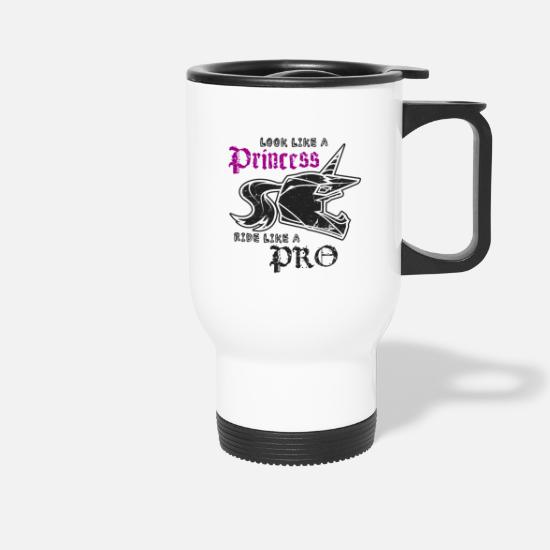 Makeup Mugs & Drinkware - Motocross princess - Travel Mug white