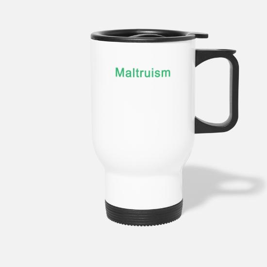 Craft Beer Mugs & Drinkware - Funny Maltruism definition for IPA & Craft Beer - Travel Mug white