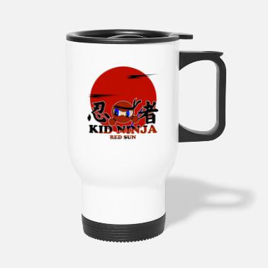 Katana Ninja Kid - Red Sun. - Travel Mug