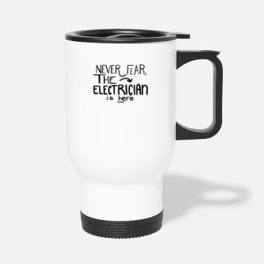 Electrician Scared electrician help - Travel Mug