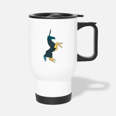 Origami Horse unicorn origami - Travel Mug