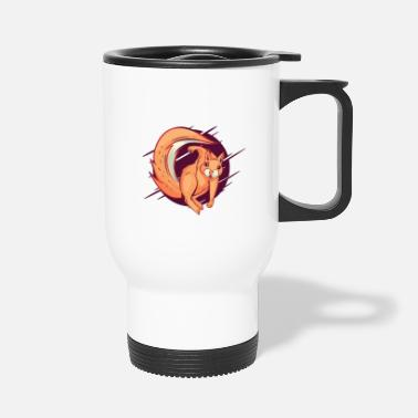 Punch Aggressive squirrel with a punch punch - Travel Mug