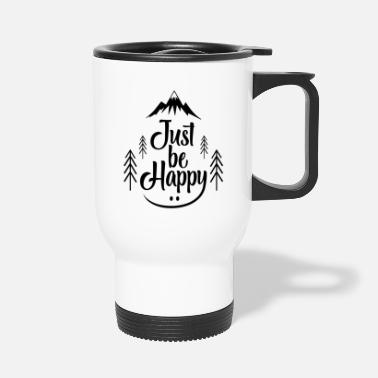 Camper Just Be Happy bw - Mug isotherme