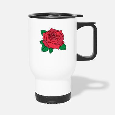 Ostrich Big rose - Travel Mug