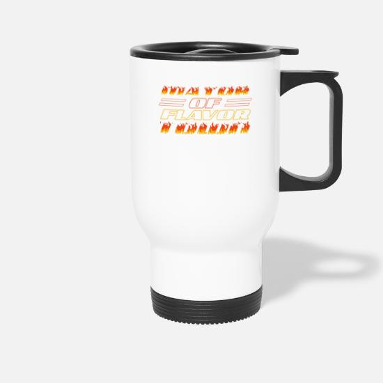 Burger Mugs & Drinkware - design for Mayor of Flavor Town - Travel Mug white