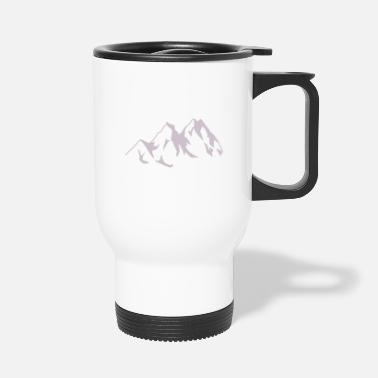 Mountains Mountain mountains mountains nature mountaineers - Travel Mug