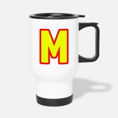 Alphabet, letter M. - Travel Mug
