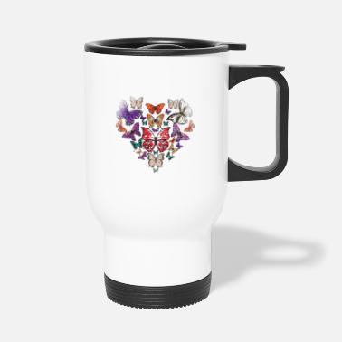 Chenille Amour papillon coeur - Mug isotherme