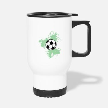 Football Aquarelle de football vert - Mug isotherme