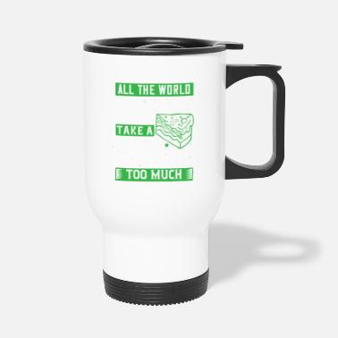 60th Party All the world is birthday cake, so take a piece, b - Travel Mug