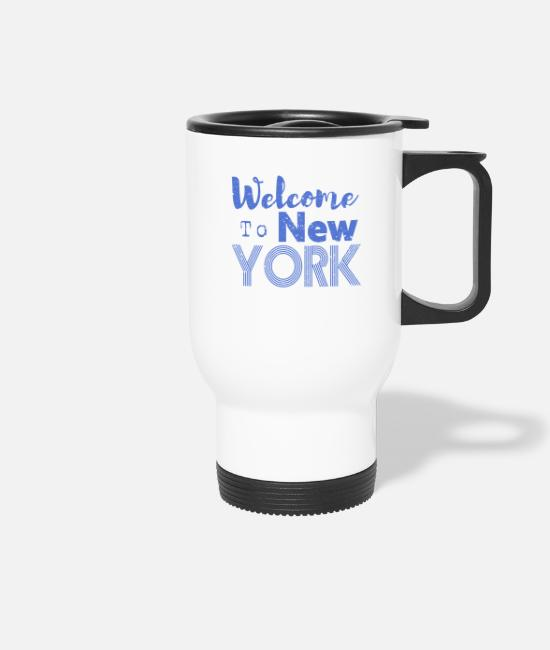 Hipster Tassen & Becher - Welcome to New York Vintage - Thermobecher Weiß