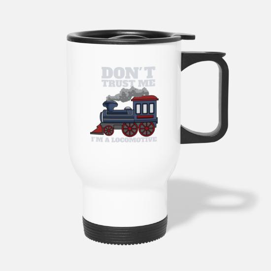 Train Locomotive Engine Carriage Depot Travel Mug Spreadshirt