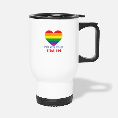 Community Heart yes it true i m in Gay - Thermobecher