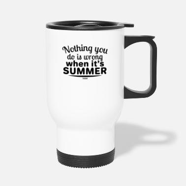 Sand Summer sea sun beach vacation gift - Travel Mug