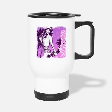 West Coast California Girl Pink Vintage - Travel Mug