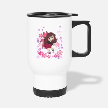 Elf Fairy rose magic spell fairy tale girl gift - Travel Mug