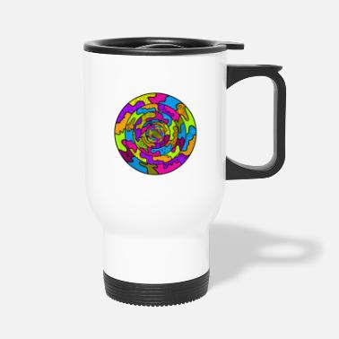 Glamour Circle abstract - Travel Mug