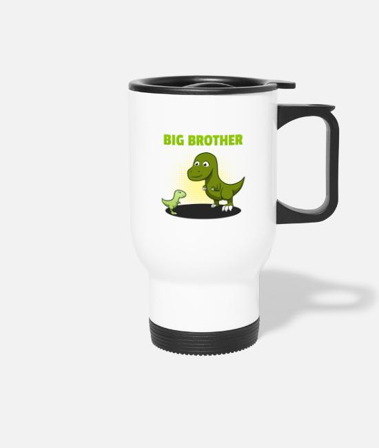 Brotherasurus Mugs & Drinkware - Siblings brother Brothersaurus I gift - Travel Mug white