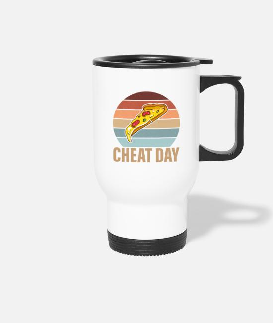 Training Mugs & Drinkware - Cheatday fitness gift bodybuilder - Travel Mug white
