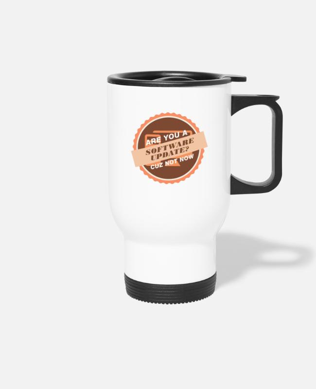 Support Mugs & Drinkware - Software update - tech support - Travel Mug white