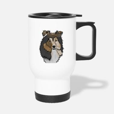 Long-haired Long-haired Herd Dog Longhair Collie Mama | Collie Rough Collies - Travel Mug