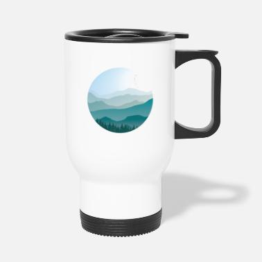 Landscape in cartoon style - landscape - Travel Mug