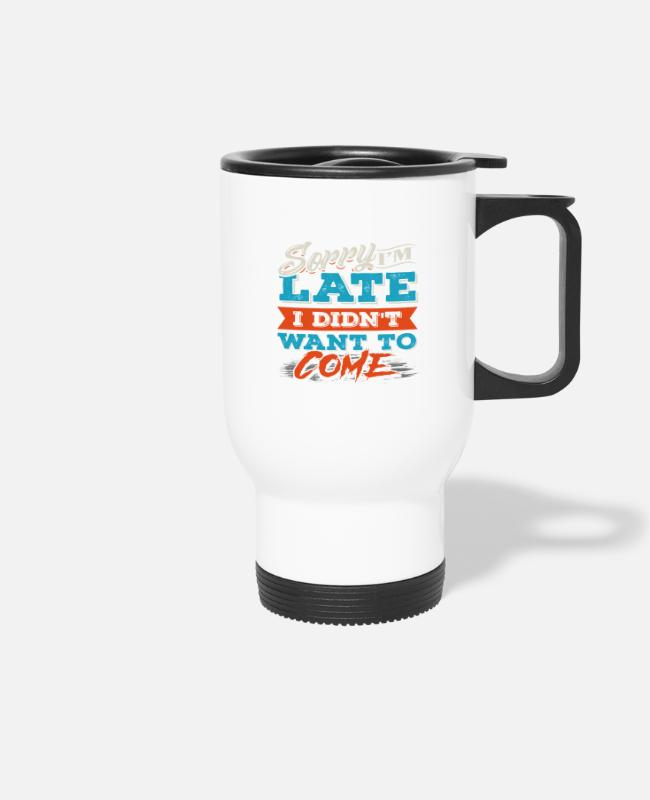 Family Party Mugs & Drinkware - Funny saying - funny saying - Travel Mug white