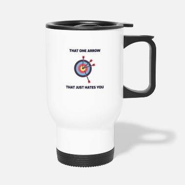 Target Archery Funny Sayings Bow Arrow Archer Gift - Travel Mug
