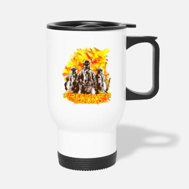 Everyday Heroes firefigher squad - Travel Mug