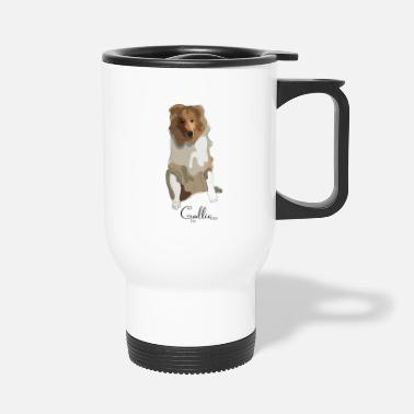 Long-haired Long-haired Herd Dog Collie rough long hair collie - Travel Mug