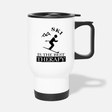 Ski Area Skier skiing ski jumping ski area slope - Travel Mug