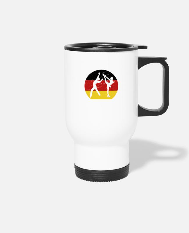 De Mugs & Drinkware - Figure Skating Gift for Winter Sports Fans Germany - Travel Mug white