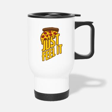 Good Friends In Great pizza, fast food - Travel Mug