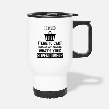Shopping shopping cart shopping shopping shopping - Travel Mug