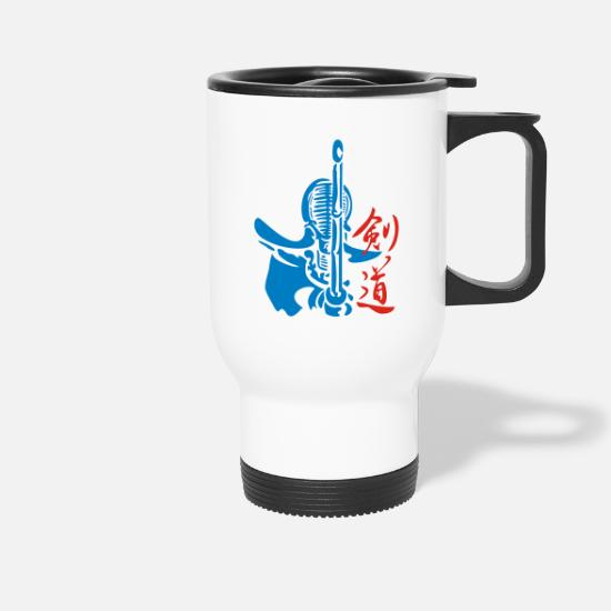 Symbol  Mugs & Drinkware - kendo_03 - Travel Mug white
