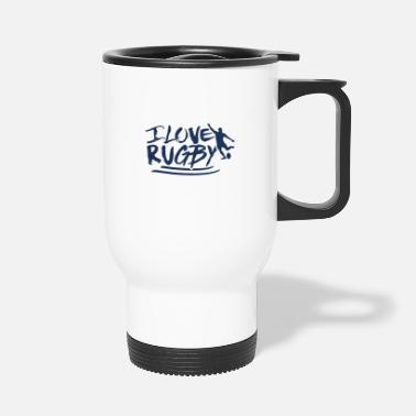 Rugby Rugby Ball Rugby Rugby Match Rugby Player Team - Travel Mug