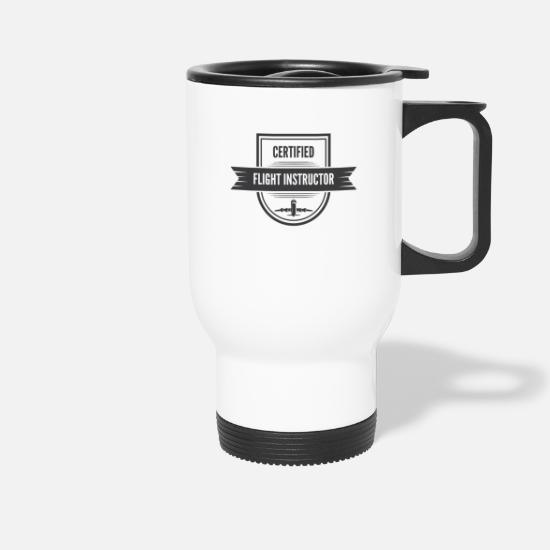 Pilot Mugs & Drinkware - Flight trainer / - Travel Mug white