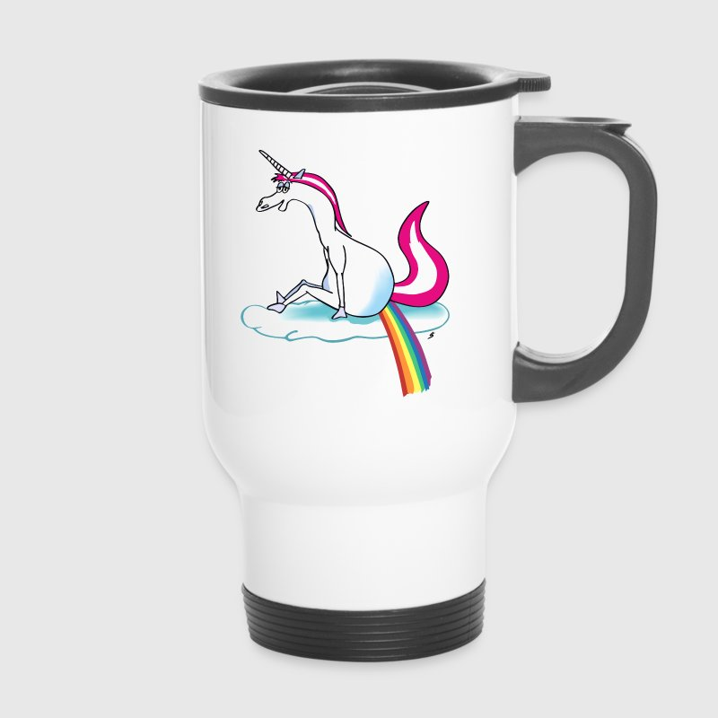 Unicorn pooping rainbow - licorne drôle - Mug thermos