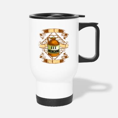 Prohibited Moonshine is Life Alcohol Moonshiner Quote - Travel Mug