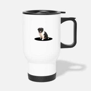 Sheltiewelpe tricolor 5 weeks old - Travel Mug