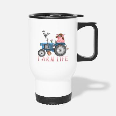 Farming Funny farm - farm life - Travel Mug