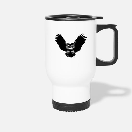 Flight Mugs & Drinkware - Owl in flight - Travel Mug white